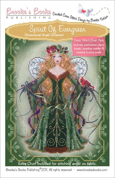 Brooke's Books - Spirit of Evergreen - Cross Stitch Chart Pack-Brookes Books  Spirit of Evergreen Cross Stitch Chart Pack