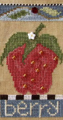SamSarah Design Studio - Farmer's Market Fruit Stand Banner - Chart 3 of 6 - Fresh Berry-SamSarah Design Studio Farmers Market Fruit Stand Banner  Fresh Berry Chart 3 of 6 Cross Stitch Pattern