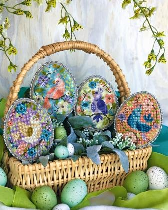 Satsuma Street - Oology-Satsuma Street - Oology, Easter Eggs, birds, spring, cross stitch,