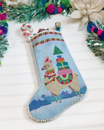 Satsuma Street - Fa-la-la-llama-Satsuma Street - Fa-la-la-llama, Christmas, Christmas stocking, animal, wool,