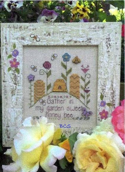 Shepherd's Bush - Sweet Honey Bee-Shepherds Bush - Sweet Honey Bee, honey, bee hives, summer, insects, cross stitch