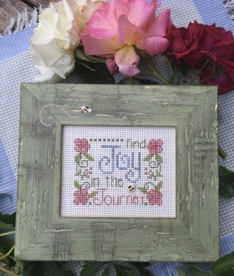 Shepherd's Bush - Find Joy Kit-Shepherds Bush - Find Joy Kit, flowers, bees, easy, cross stitch, kit,
