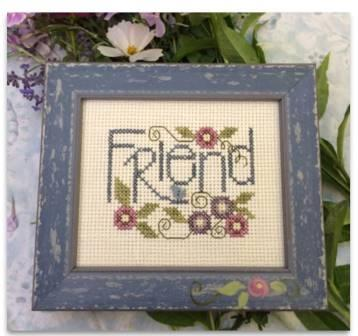 Shepherd's Bush - Friend-Shepherds Bush - Friend, cross stitch Kit, friendship, love, gift, birthday,