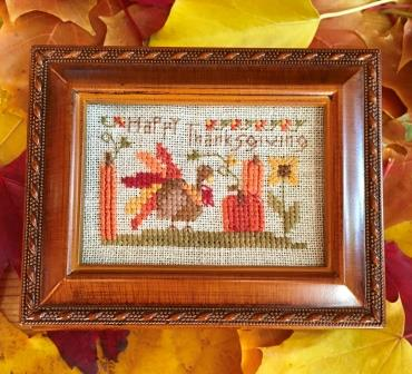 Shepherd's Bush - Happy Thanksgiving Box Kit-Shepherds Bush - Happy Thanksgiving Box Kit, turkey, treasure box, cross stitch