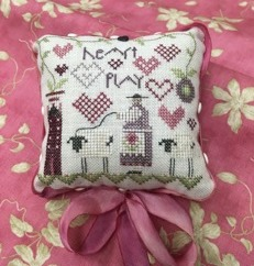 Shepherd's Bush - Heart Play Kit-Shepherds Bush - Heart Play Kit, sheep, Valentines Day, pin cushion, love,