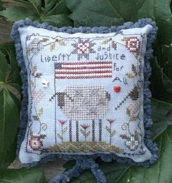 Shepherd's Bush - Liberty and Justice Kit-Shepherds Bush - Liberty and Justice Kit, sheep, American Flag, quilt, USA, flowers, cross stitch