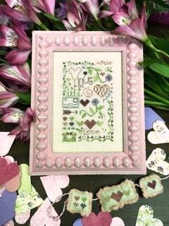 Shepherd's Bush - Love Notes-Shepherds Bush - Love Notes, Valentines Day, mail, postcard, hearts, cross stitch