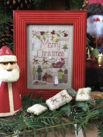 Shepherd's Bush - Merry Notes-Shepherds Bush - Merry Notes, Christmas, Santa Claus, houses, Christmas Eve, cross stitch