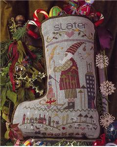 Shepherd's Bush - Stockings - Slater-Shepherds Bush - Slaters Stocking, Christmas Stocking, Santa Claus, cross stitch