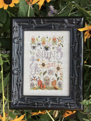 Shepherd's Bush - Spooky Notes-Shepherds Bush - Spooky Notes, Halloween, pumpkins, spiders, bats, fall, cross stitch