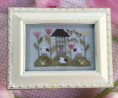 Shepherd's Bush - Spring Peeps Box Kit-Shepherds Bush - Spring Peeps Box Kit, FLOWERS, SHEEP, CROSS STITCH