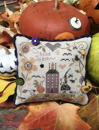 Shepherd's Bush - A Witching Season Kit-Shepherds Bush - A Witching Season, Halloween,  witch, crow, pumpkins, pin cushion, cross stitch