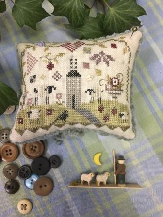 Shepherd's Bush - Magpie Pincushion Kit-Shepherds Bush - Magpie Pincushion Kit, SHEPHERD, pin cushion, sheep, cross stitch