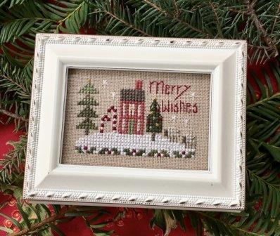 Shepherd's Bush - Merry Wishes Box Kit-Shepherds Bush - Merry Wishes Box Kit , house, Christmas, home, snow, cross stitch