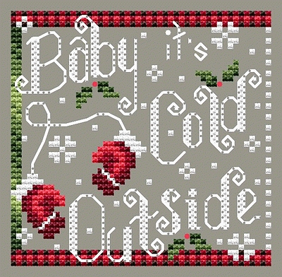 Shannon Christine Designs - Cold Outside-Shannon Christine Designs - Cold Outside, Christmas songs, winter, mittens, snow, cross stitch