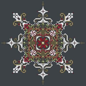 Shannon Christine Designs - Christmas Snowflake-Shannon Christine Designs - Christmas Snowflake, beads, elegant, ornament, Christmas, cross stitch