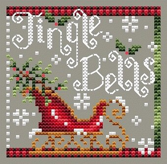 Shannon Christine Designs - Jingle Bells-Shannon Christine Designs - Jingle Bells, sleigh, Christmas, ornaments, cross stitch