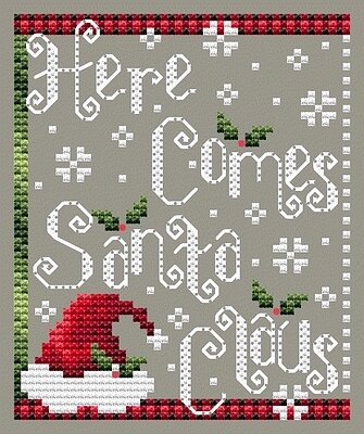 Shannon Christine Designs - Here Comes Santa Claus-Shannon Christine Designs - Here Comes Santa Claus, Christmas, ornaments, winter, cross stitch