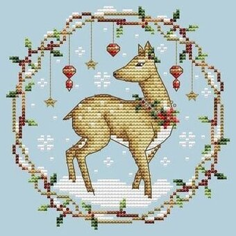 Shannon Christine Designs - Woodland Deer-Shannon Christine Designs - Woodland Deer, Christmas, ornaments, deer, decorations, cross stitch