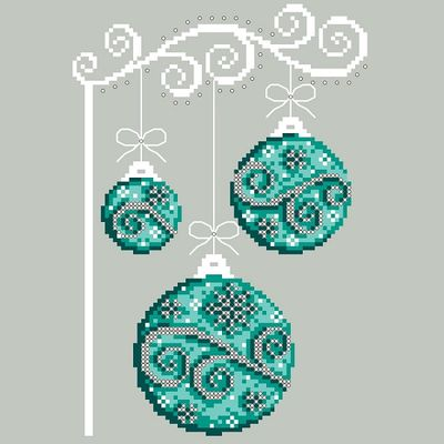 Shannon Christine Designs - Wintery Teals-Shannon Christine Designs - Wintery Teals, ORNAMENTS, Christmas, greens