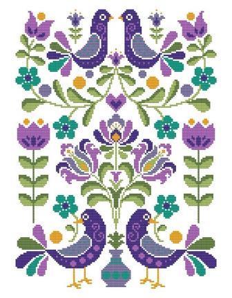 Shannon Christine Designs - Hello Folks-Shannon Christine Designs - Hello Folks, FLOWERS, birds, cross stitch
