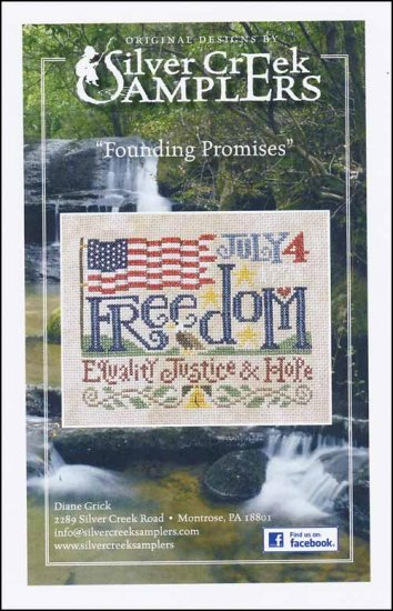 Silver Creek Samplers - Founding Promises-Silver Creek Samplers - Founding Promises, American flag, 4th of July, freedom, USA, cross stitch
