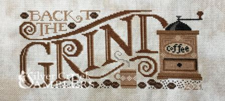 Silver Creek Samplers - Back to the Grind-Silver Creek Samplers - Back to the Grind, coffee, coffee beans, coffee cup, cross stitch