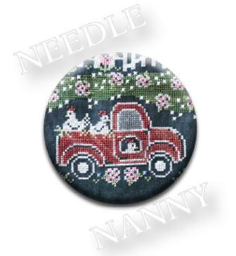 Stitch Dots - Chalk on the Farm - Fresh Eggs Farm - Little Red Truck Needle Nanny by Hands On Design