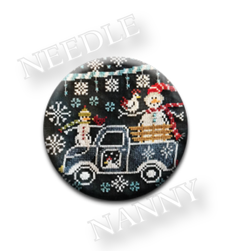 Stitch Dots - Chalk on the Farm - Winter Wonderland Farm - Frosty Ride Needle Nanny by Hands On Design-Stitch Dots - Chalk on the Farm - Winter Wonderland Farm - Frosty Ride Needle Nanny by Hands On Design