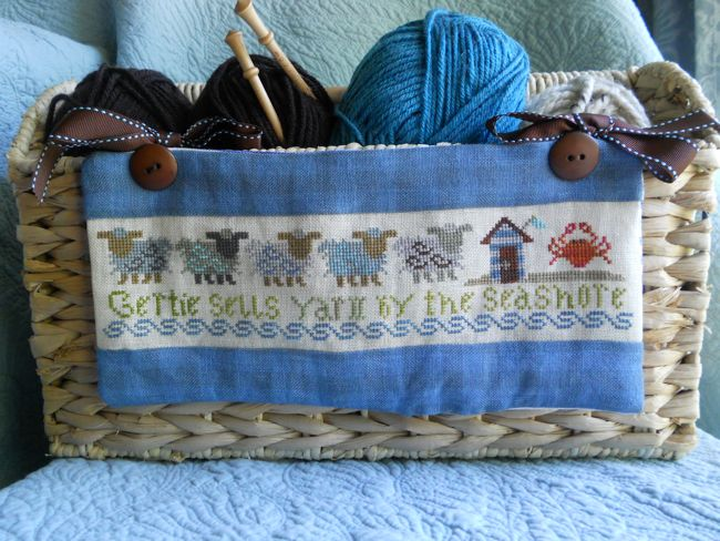 The Sampler Girl - Sheep on a Hill  The collection - No. 2 Gertie Sells Yarn by the Seashore - Cross Stitch Pattern