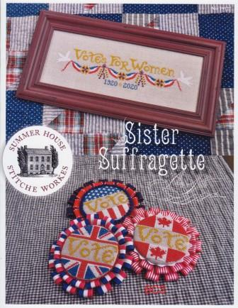 Summer House Stitche Workes - Sister Suffragette-Summer House Stitche Workes - Sister Suffragette, womens rights, voting, politics, red, white  blue, cross stitch