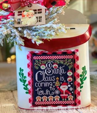 Stitching With The Housewives - Santa Claus is Coming to Town-Stitching With The Housewives - Santa Claus is Coming to Town, Christmas, gingerbread house, Santa Claus, cross stitch