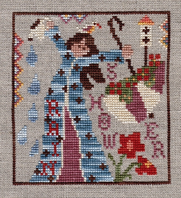 Ship's Manor - Flora-Ships Manor - Flora, flowers, girl, cross stitch