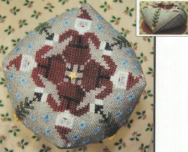 The Stitching Parlor - Santa Biscornu-The Stitching Parlor - Santa Biscornu, Santa Claus, Christmas