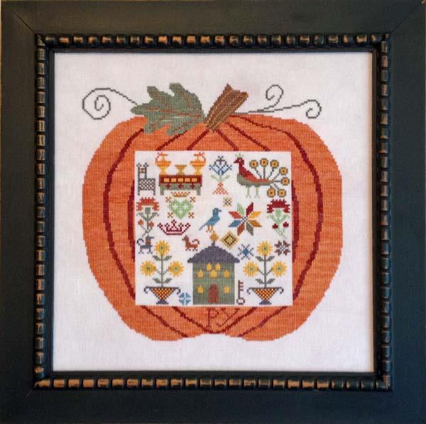 Samplers Revisited - Great Pumpkin Mennonite-Samplers Revisited - Great Pumpkin Mennonite, pumpkins, fall, leaves, Netherlands, christianity, God, beliefs, cross stitch