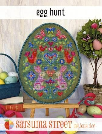 Satsuma Street - Egg Hunt-Satsuma Street - Egg Hunt, Easter, bunnies, birds, hearts, Easter Egg, cross stitch