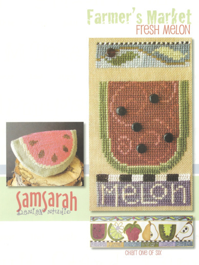 SamSarah Design Studio - Farmer's Market Fruit Stand Banner - Chart 1 of 6 - Fresh Melon