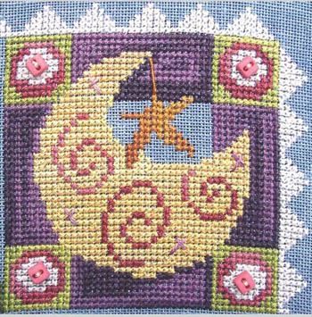 SamSarah Design Studio - Daily Life - Pearl 04 of 12 - Lasso The Moon! - Cross Stitch Pattern-SamSarah Design Studio - Daily Life - Pearl 4 of 12 - Lasso The Moon! - Cross Stitch Pattern