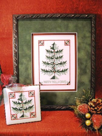 ScissorTail Designs - Holly Tree-ScissorTail Designs, Holly Tree, Christmas Tree, evergreen, pine tree, holiday,  Cross Stitch Pattern
