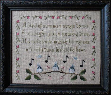 Stitches Through Time - Birds of Summer-Stitches Through Time - Birds of Summer. summer, singing, tree top, birds, cross stitch