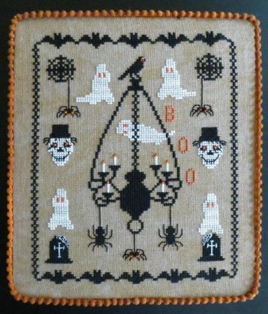 Stitches Through Time - Ghostly Encounters-Stitches Through Time - Ghostly Encounters, Halloween, ghosts, graveyard, cemetary, cross stitch