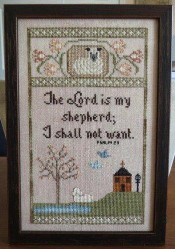Stitches Through Time - My Shepherd-Stitches Through Time - My Shepherd, Lord, Jesus, bible, sheep, lamb, love, cross stitch