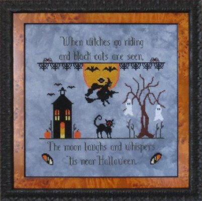 Stitches Through Time - When Witches Go Riding-Stitches Through Time - When Witches Go Riding, Halloween, witches, trick or treat, cross stitch