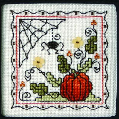 The Sweetheart Tree - Teenie Tweenie - Itty Bitty Kitty - Teenie Tiny Halloween I - Cross Stitch Pattern-The Sweetheart Tree, Teenie Tweenie,Itty Bitty Kitty, Teenie Tiny Halloween I, pumpkin, spider, flowers, spider web, fall,  Cross Stitch Pattern