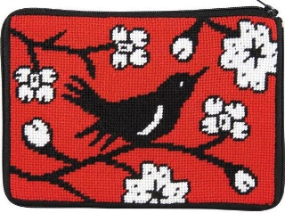 Alice Peterson Needlepoint - Stitch & Zip - Blackbird - Cosmetic Case-Alice Peterson Needlepoint - Stitch & Zip - Blackbird - Cosmetic Case