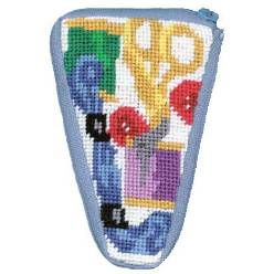 Alice Peterson Needlepoint - Stitch & Zip -Sewing - Scissor Case-Alice Peterson Needlepoint - Stitch & Zip -Sewing - Scissor Case