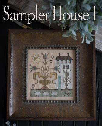 Plum Street Samplers - Sampler House I-Plum Street Samplers - Sampler House I, houses, sheep, country, farm, cross stitch