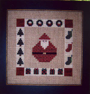 Sekas & Co. - Santa Square-Sekas  Co., Santa Square, Santa Claus, Jolly old St. Nick, Christmas trees, Christmas gifts, Cross Stitch Pattern