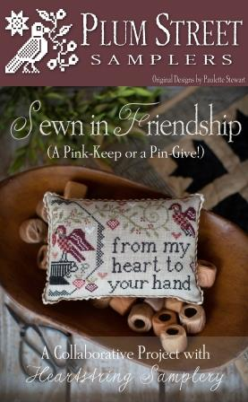 Plum Street Samplers - Sewn in Friendship-Plum Street Samplers - Sewn in Friendship - birds, pin cushion, cross stitch