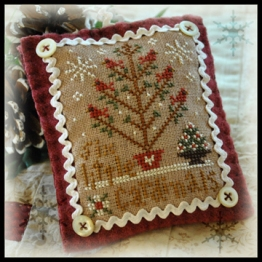 Little House Needleworks - Ornament of the Month 2012 - No. 06 - Six Little Cardinals-Little House Needleworks,Ornament, of the Month,2012, No. 06, Six, Little, Cardinals,Cross, Stitch, Chart, birds, Christmas, Christmas Tree,